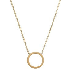 Circle Necklace Small - Matt Gold