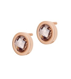 Colour Studs - Espresso Rose Gold
