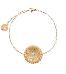 Crinkle Bracelet - Matt Gold
