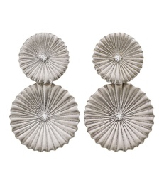 Crinkle Earrings - Matt Steel