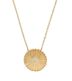 Crinkle Necklace - Matt Gold