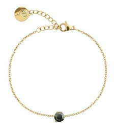 Crown Bracelet - Gold Black