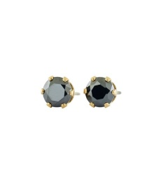 Crown Studs - Gold Black