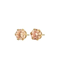 Crown Studs- Gold Champagne