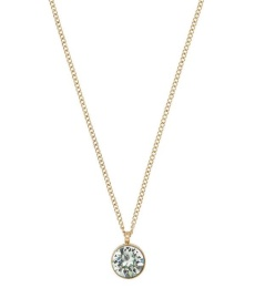 Diana Necklace  - Pool Blue/Crystal Gold