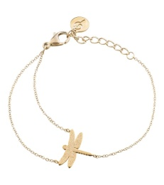 Dragonfly Bracelet Sparkle - Gold