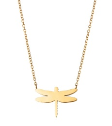 Dragonfly Necklace - Gold