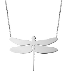Dragonfly Necklace Large - Steel