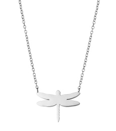 Dragonfly Necklace - Steel