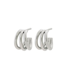 Echo Earrings Small - Steel