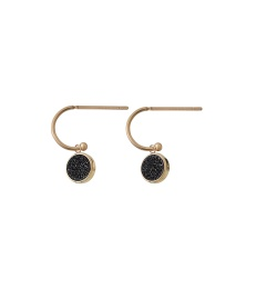Estelle Earrings - Black Gold