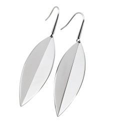Leaf Earrings - Steel