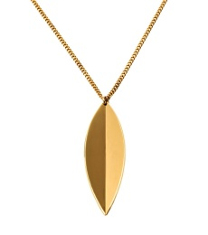 Leaf Necklace Long - Gold