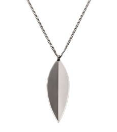 Leaf Necklace Long - Steel