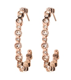 Norah Creole Earrings - Rose Gold