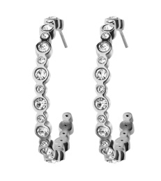 Norah Creole Earrings - Steel