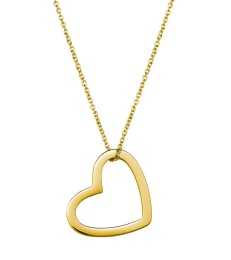 Outline Heart Necklace - Gold