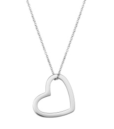 Outline Heart Necklace - Steel
