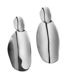 Pebble Earrings - Steel