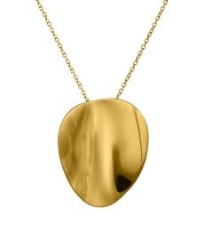 Pebble Necklace Long - Gold