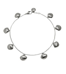 Shell Ankle Chain - Steel