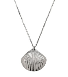 Shell Necklace Long - Steel