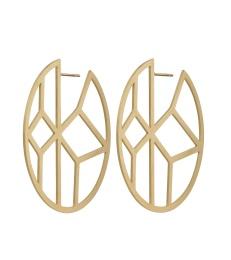 Shirin Earrings - Matt Gold