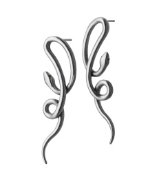 Snake Earrings - Steel