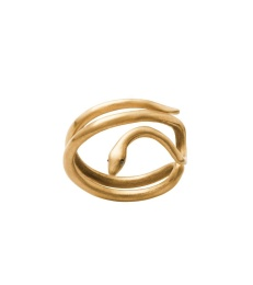Snake Ring - Matt Gold