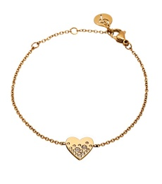 Sparkle Heart Bracelet - Gold