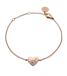 Sparkle Heart Bracelet - Rose Gold