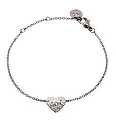 Sparkle Heart Bracelet - Steel