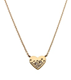 Sparkle Heart Necklace - Gold