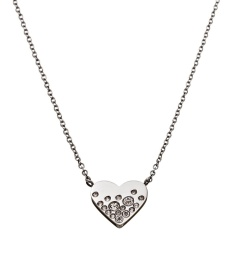 Sparkle Heart Necklace - Steel