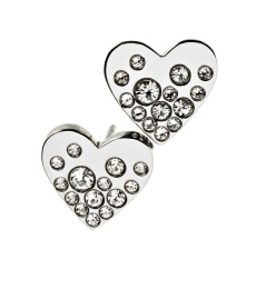 Sparkle Heart Studs - Steel