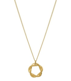 Swirl Necklace Small - Gold