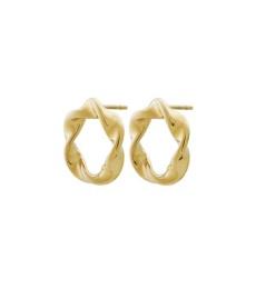 Swirl Studs - Gold