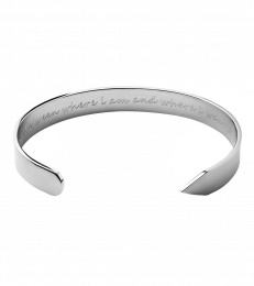 Thought Bangle - Steel