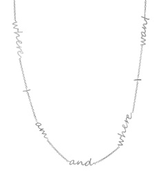 Thought Necklace - Steel