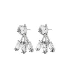 Timeless Earrings Front/Back - Steel