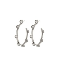 Tina Earrings Small - Steel
