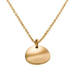 Concave Necklace Short - Matt Gold