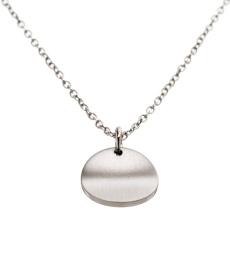 Concave Necklace Short - Matt Steel