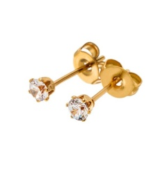 Crown Studs Mini - Gold