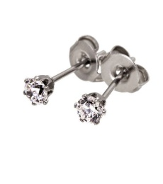 Crown Studs Mini - Steel