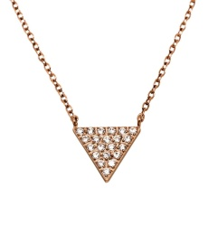 Mountain Necklace Short - Rose Gold
