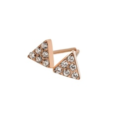 Mountain Studs Mini - Rose Gold