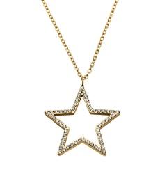 Nova cz Necklace Long - Gold