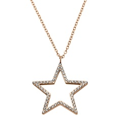 Nova cz Necklace Long - Rose Gold
