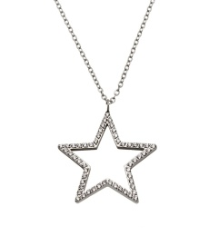 Nova cz Necklace Long - Steel